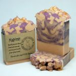 Magritte macadamia nut oil olive oil coconut oil cold process soap cute soap wholesale uk soaperie coconut oil cocoa butter vegan eco-friendly cruelty free palm oil free jasmine fragrance scent natural soap handmade soap
