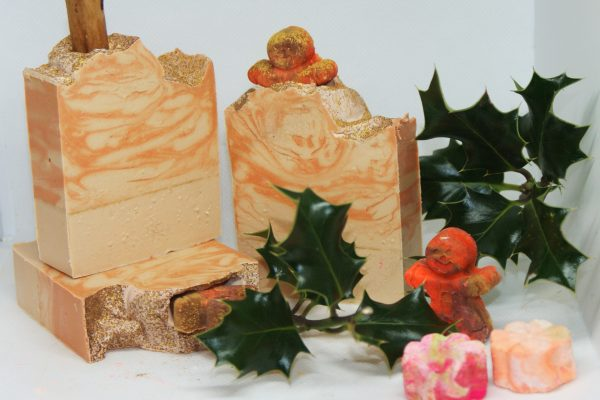 Gingerbread Christmas soaps festive soaps christmas fragrances handmade Christmas soaps gifts presents family gifts wholesale soap uk