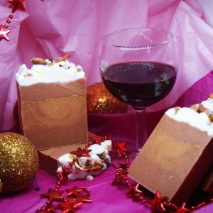 Gluhwein argan oil red clay Christmas soaps festive soaps christmas fragrances handmade Christmas soaps gifts presents family gifts wholesale soap uk
