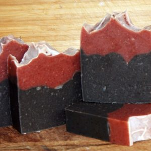 activated charcoal rosehip powder handmade soap natural soap organic soap wholesale soap vegan soap zero waste paraben free palm oil free skincare