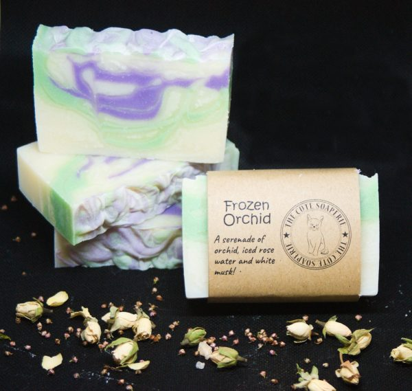 Frozen Orchid handmade natural soap uk wholesale